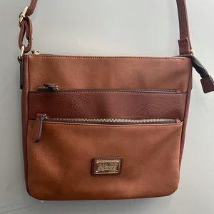 K studio crossbody bag brown with zipper d…